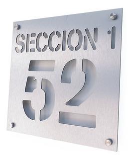 Números Residenciales De Aluminio Casa Oficina Personalizado