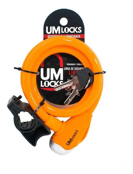 Linga Seguridad Bici Moto Um Locks 8210-q Libra Colores 1mt
