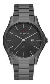Relogio Technos Masculino Preto Original Grande 2115msh/4p