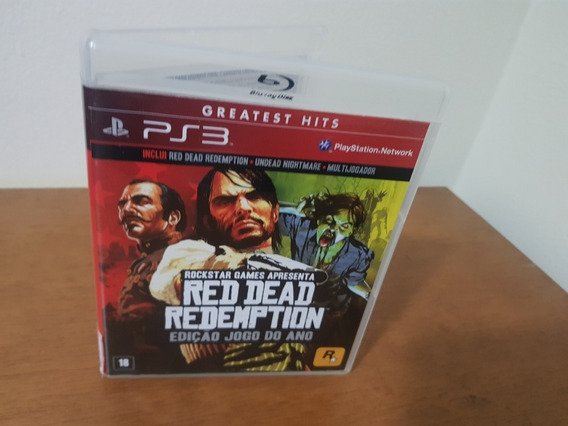 Red Dead Redemption Game Of The Year Usado Ps3 Mídia Física