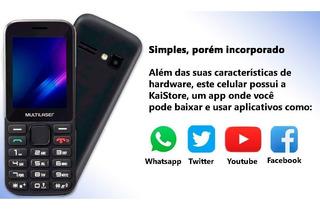 Celular Zapp 2,4 Pol Conexão 3g 512mb P9098 Multilaser