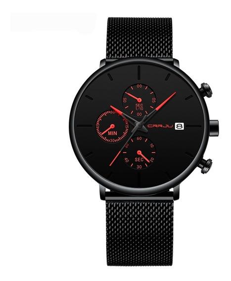 Relógio Minimalista De Luxo - Crrju - Cronógrafo, Calendário