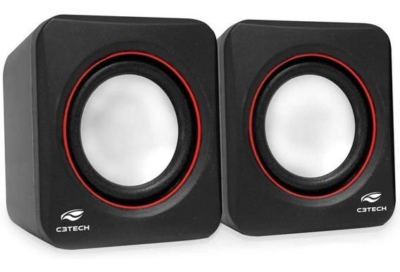 Caixa De Som Speaker 2.0 Sp-301bk C3tech 3w Rms P/ Pc E Note