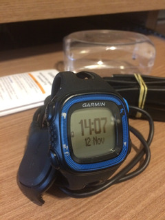 Relógio C/ Gps Garmin Forerunner 15 - Preto E Azul