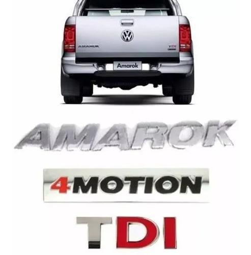 Kit Emblemas Insignias Amarok Tdi 4motion