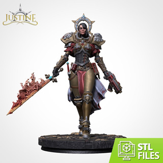 Justine - Warhammer - Stl - Para Impresión 3d