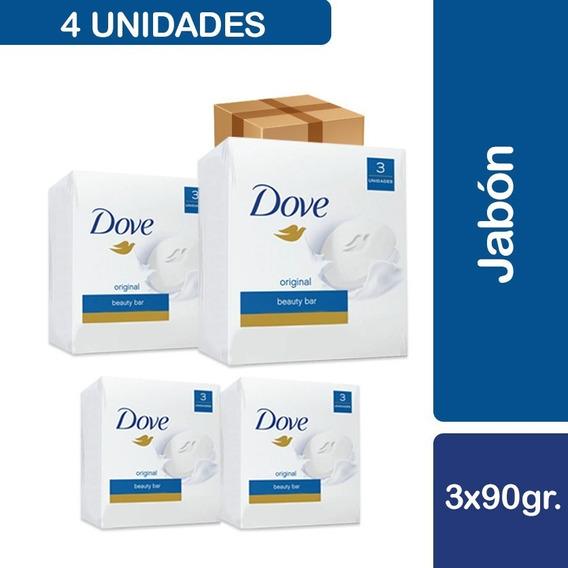 12 Unidades Dove Jabón Blanco Original 90g