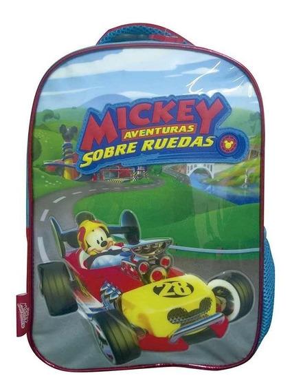 Mochila 12 PuLG. Mickey Sobre Ruedas Originales - Art. Km717