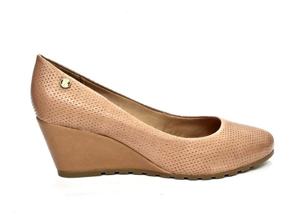 Sapato Anabela Bottero Em Couro Amendoa 302325