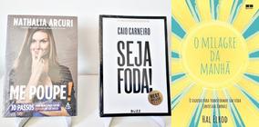 Kit Livro Seja Foda! + Livro Me Poupe + Milagre Da Amanha