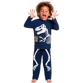 0c086fc9b1 Pijama Infantil Menino Dinossauro Blusa E Calça - Kyly