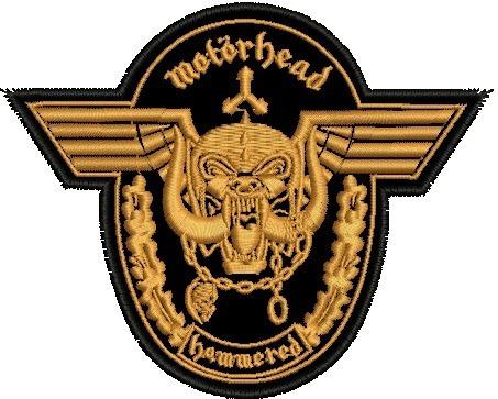 Patch Bordado Motorhead Hammered Termo Colante 10,5 Cm,