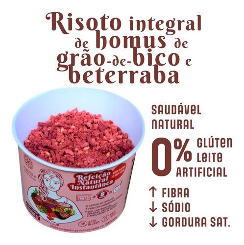 Imagem 1 de 7 de Risoto Homus Grão De Bico E Beterraba Sem Glúten Sem Leite