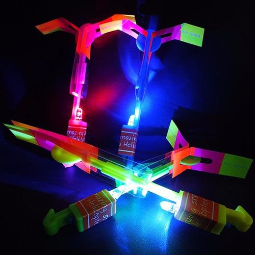 Flycopter Helicoptero Led Volador Flecha Juguete Luminoso