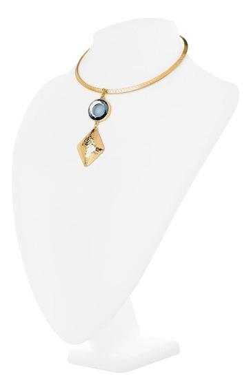 Collar Elegante Piedra Azul 419152 Marca Nice
