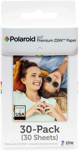 Polaroid 2x3 Premium Zink Zero Photo Paper Pack De 30 Hojas