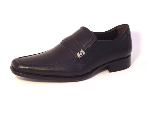 Sapato Masculino Democrata Preto Sem Cadarço - Hampton 430026