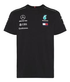 Playera Mercedes Amg Petronas F1 Manga Corta Genuina Negra
