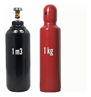 Cilindro De Acetileno 1kg + Cil Oxigênio Ind 1,0 M3 Vazio