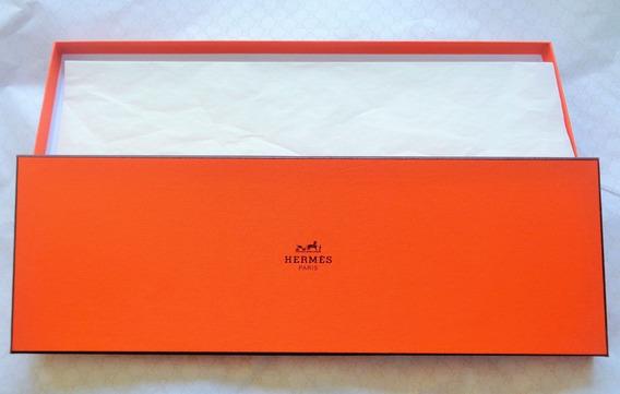 Hermes Caja Original Para Corbata 37.5 Cm X 12.5 Cm.