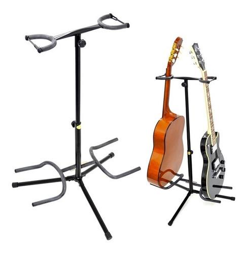 Pedestal Doble Para Guitarra O Bajo