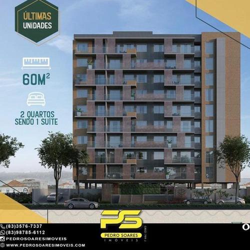 Apartamento Com 2 Dormitórios À Venda, 60 M² Por R$ 326.057 - Bela Vista - Intermarés  Cabedelo/pb - Ap4768