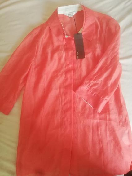 Camisa Dama Carries Note Color Coral Talla M Nueva Original
