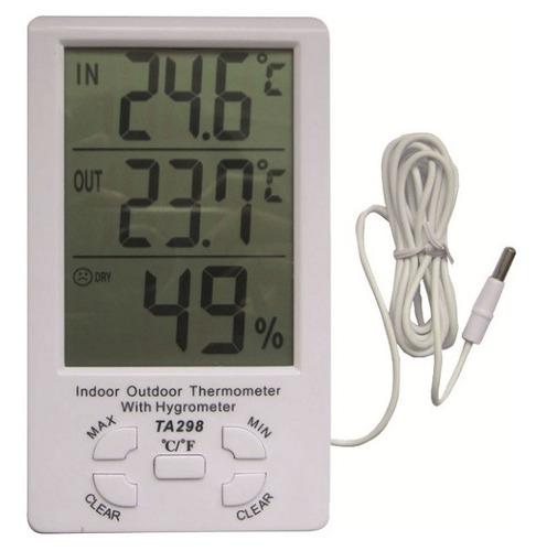Termometro Ambiental De Panel Gralf Tgf-298 In/out Humedad