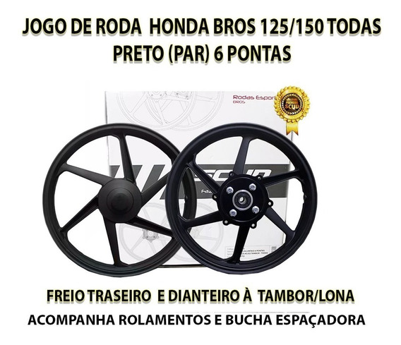 Roda Bros 125/150 Scud Freio Tambor Lona Todas Liga Leve