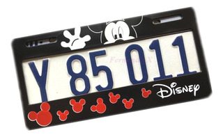 Marco Porta Placa Mickey Mouse