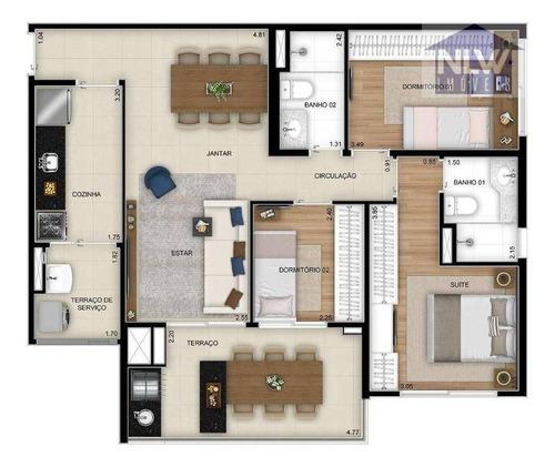 Apartamento Com 3 Dormitórios À Venda, 84 M² Por R$ 733.000,00 - Vila Guilhermina - São Paulo/sp - Ap2356