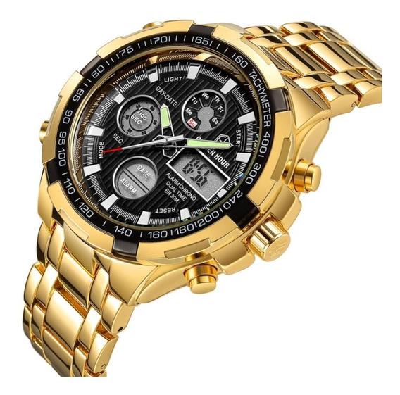 Relógio Masculino - Golden Hour - A Prova D