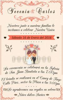 Invitaciones Para Matrimonio Otros En Atlantico En Mercado
