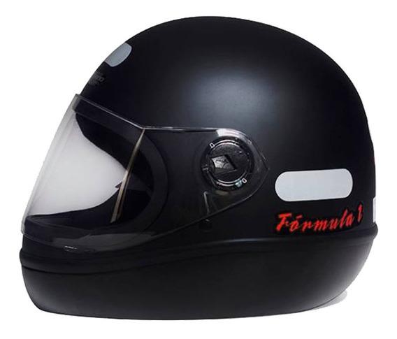 Capacete Masculino F1 R Taurus Preto Fosco Classic