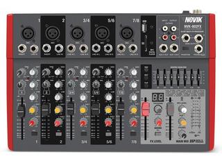 Consola De Sonido Mixer Novik Nvk-802fx