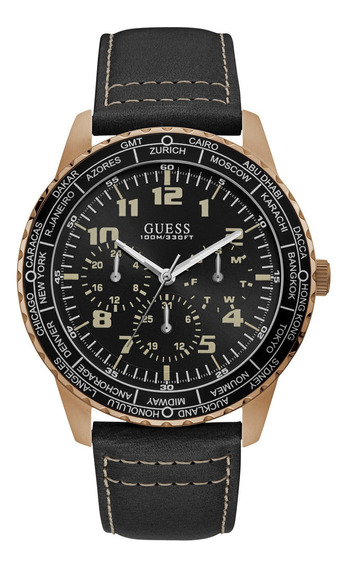 Relógio Guess Masculino Pulseira De Couro 92729gpgsrc2 - Nfe
