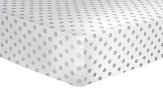 Trend Lab Grey Dot - Sábana De Cuna Ajustada De Franela Del