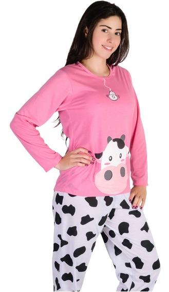 Pijama Longo Fechado Feminino Comprida Inverno - Promoção