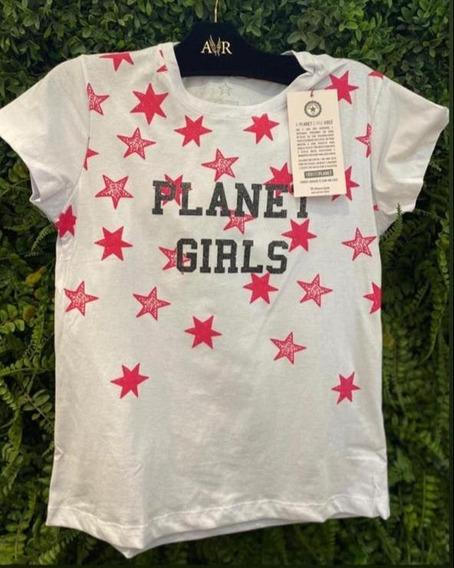 Camiseta Estrelas Planet Girls