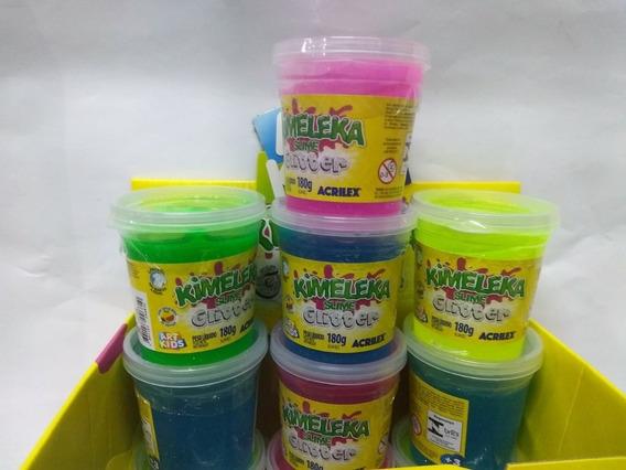 Kimeleka Slime Glitter Kit Com 4 Peças Pronta Entrega