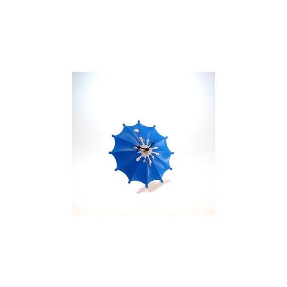 Relógio De Mesa Guarda Chuva Azul Plástico 15x15 Cm