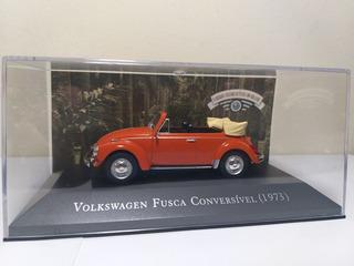 Volkswagen Fusca Conversível 1973, Carros Inesquecíveis 1/43