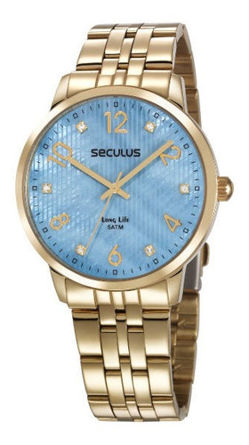 Relógio Seculus Feminino Original Grande Barato Prova D'água