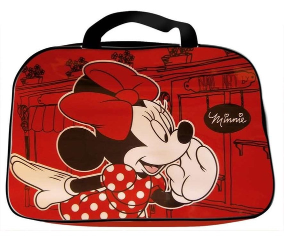 Bolso Disney Oval Mickey Minnie Playeros