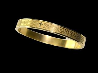Pulseira Bracelete Dourado Aço Inox Steel 316l Promoção!!!