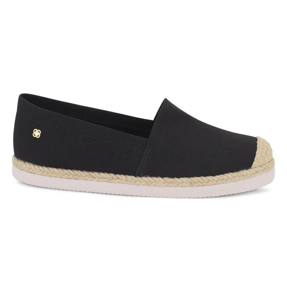 Espadrille Low Off Black Preto Petite Jolie