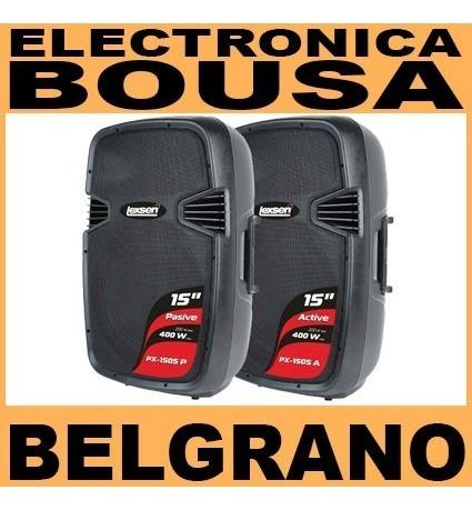 Imagen 1 de 2 de Bafle Activo Amplificado Bluetooth 15  Juego Lexsen Belgrano
