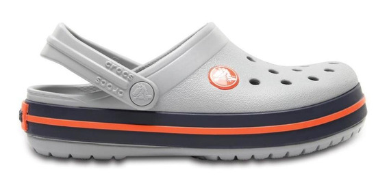 Crocs Crocband Clog Kids Light Grey/navy