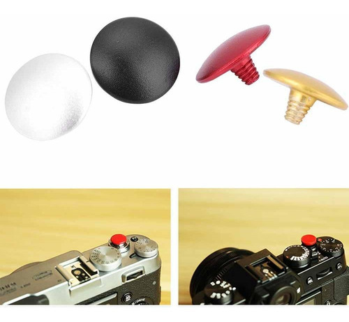 3 x botón de liberación del obturador de cámara Convexo Para Fujifilm Leica Nikon Canon