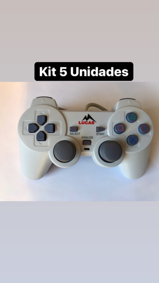 Kit 5 Unidades Controle Playstation 1